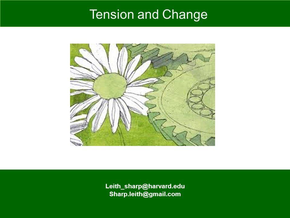 Leith_sharp@harvard.edu Sharp.leith@gmail.com Tension and Change