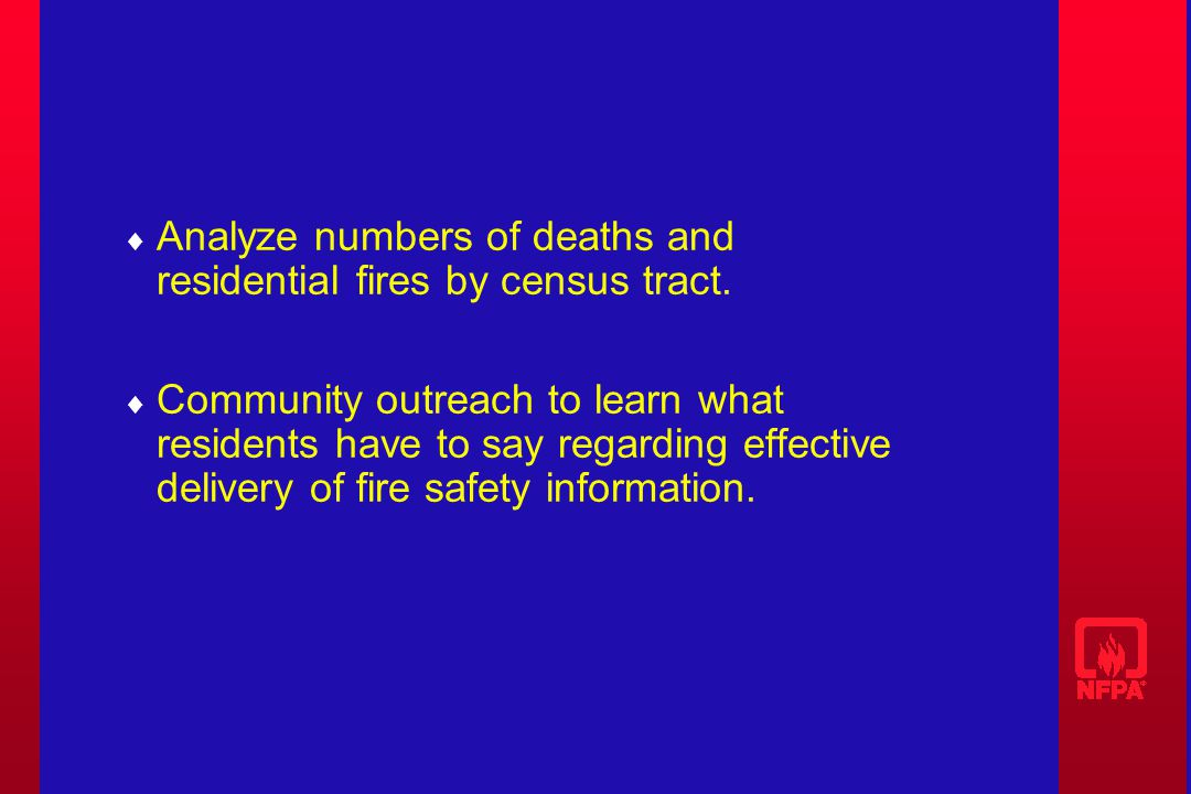 Analyze numbers of deaths and residential fires by census tract.