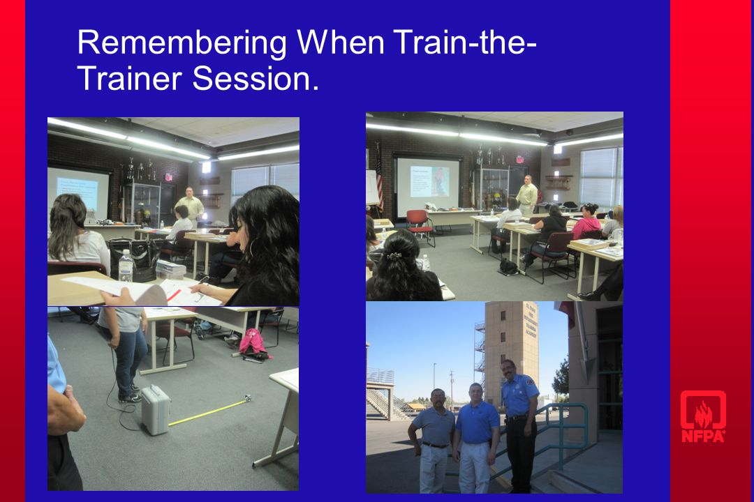 Remembering When Train-the- Trainer Session.