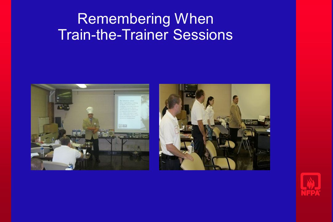 Remembering When Train-the-Trainer Sessions