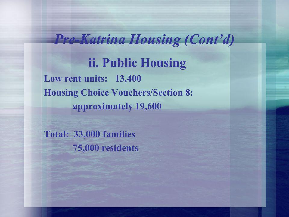 A. Pre-Katrina Housing i.