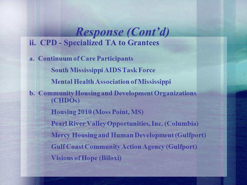 B. How We Responded HUDs Response i.