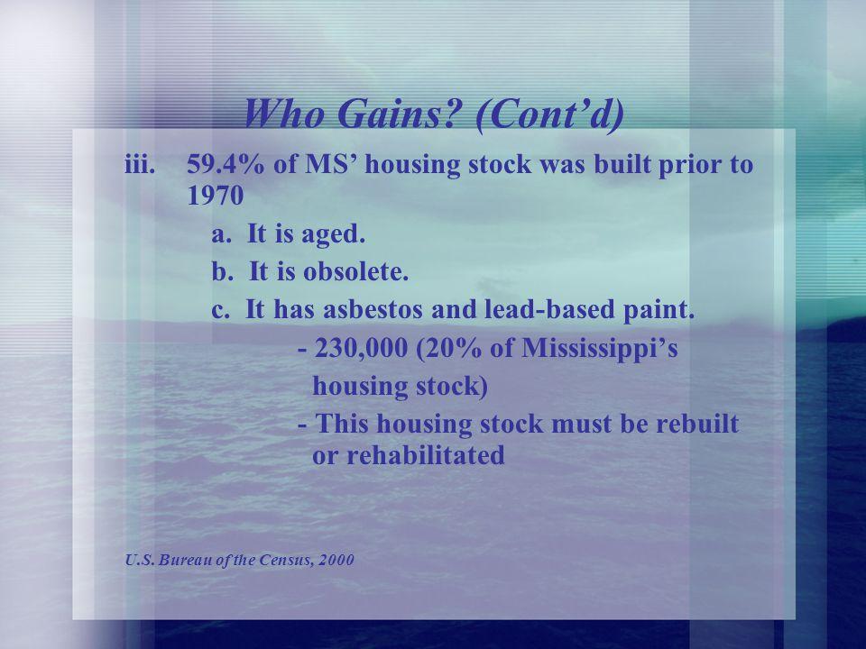 C. WHO GAINS. i.