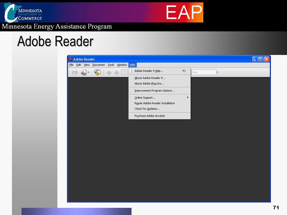 Adobe Reader 71