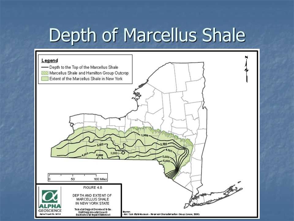 Depth of Marcellus Shale