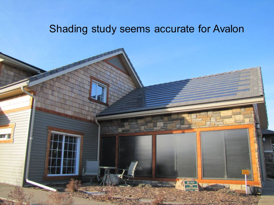 Shading study seems accurate for Avalon
