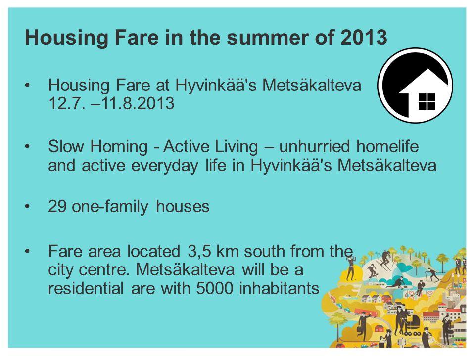 Housing Fare in the summer of 2013 Housing Fare at Hyvinkää s Metsäkalteva 12.7.