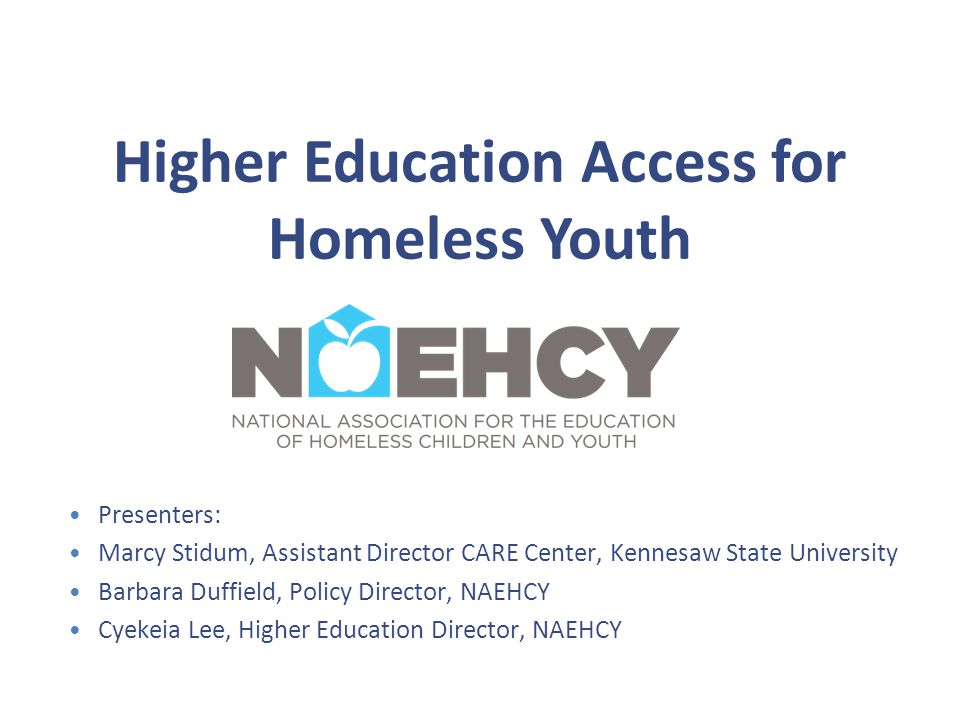 Who are Unaccompanied Homeless Youth.