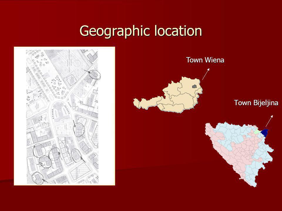 Geographic location Town Bijeljina Town Wiena