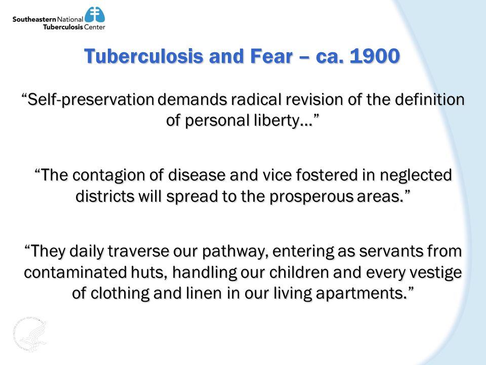Tuberculosis and Fear – ca.