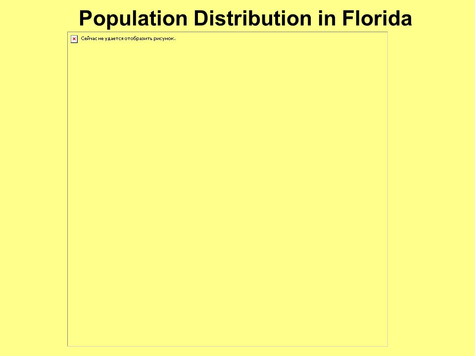 Population Distribution in Florida