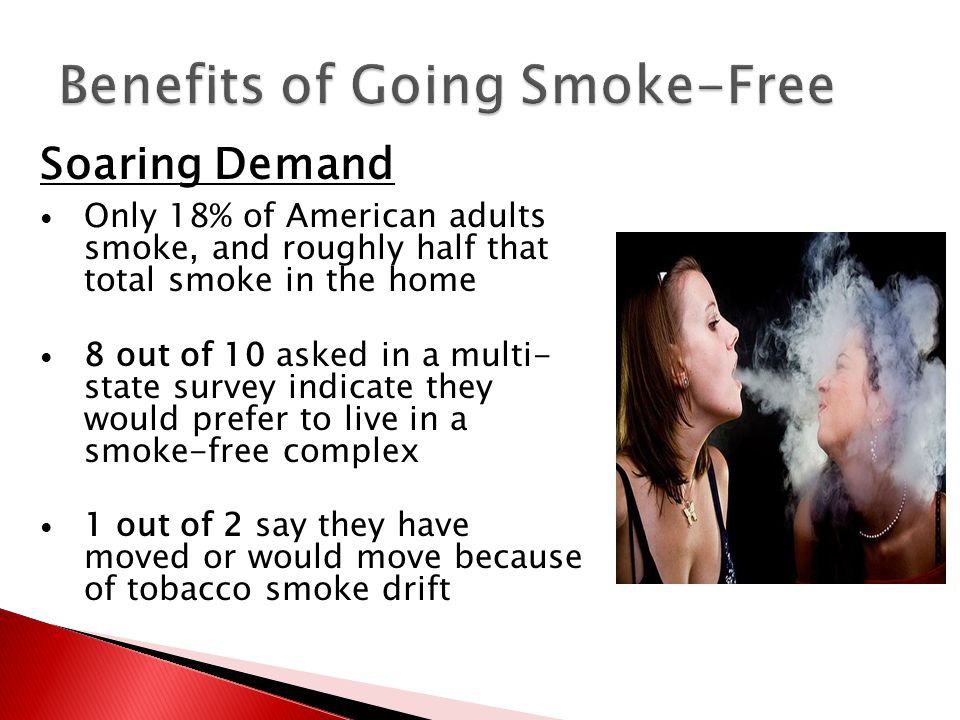 Soaring Demand Only 18% of American adults smoke, and roughly half that total smoke in the home 8 out of 10 asked in a multi- state survey indicate th