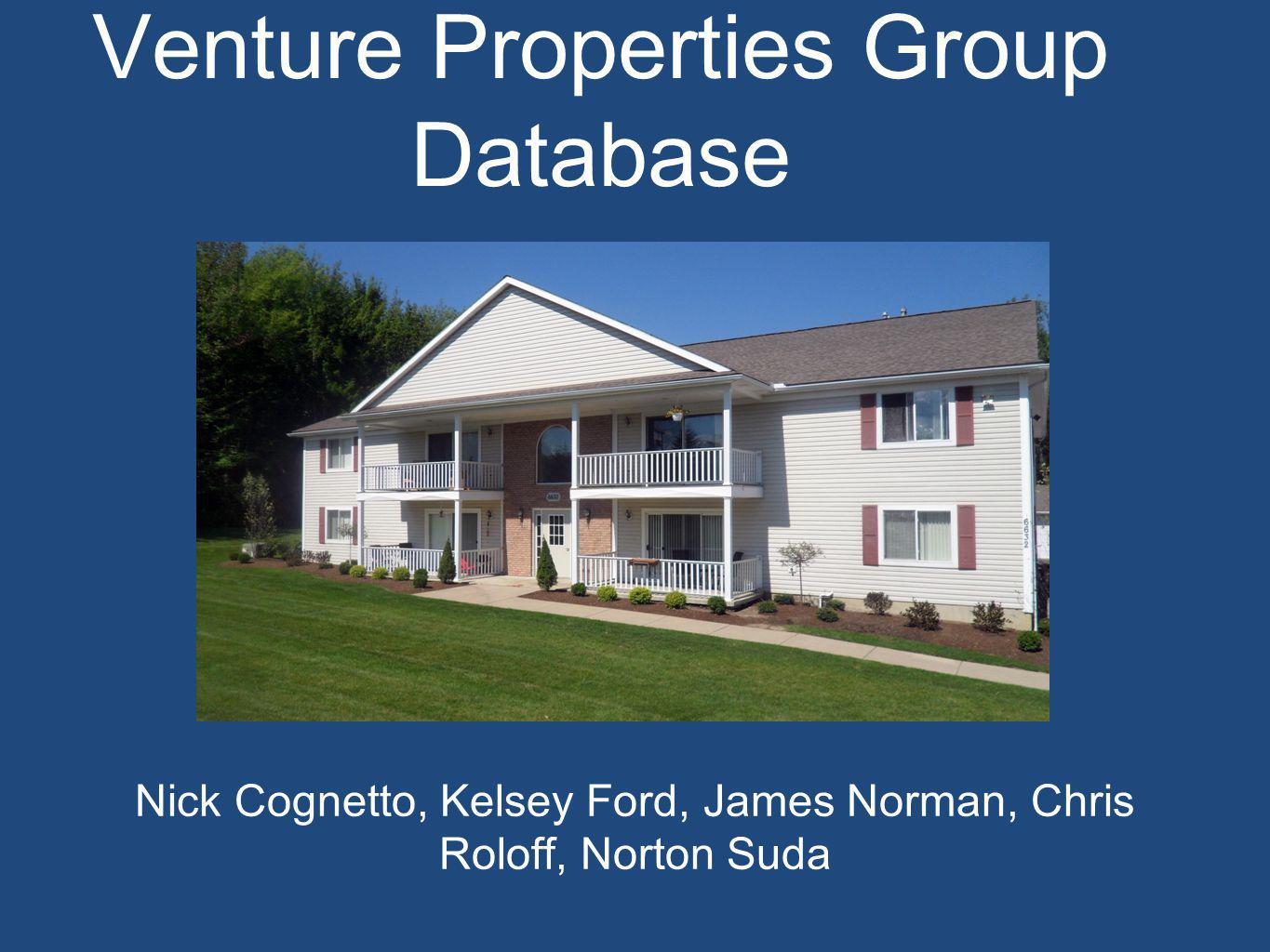 Venture Properties Group Real Estate company based out of West Seneca, NY.