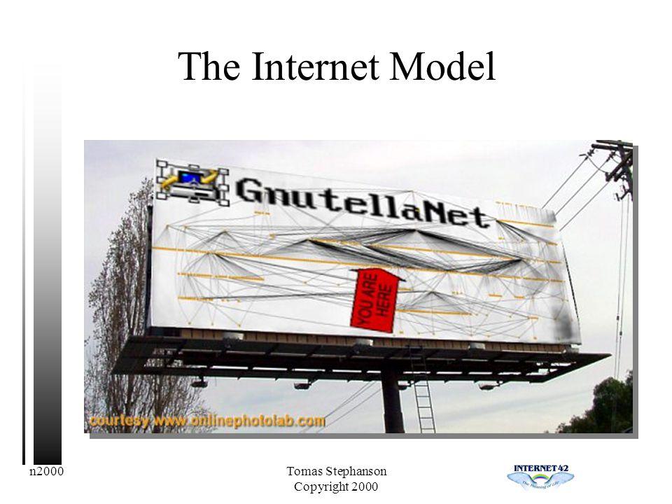 n2000Tomas Stephanson Copyright 2000 The Internet Model