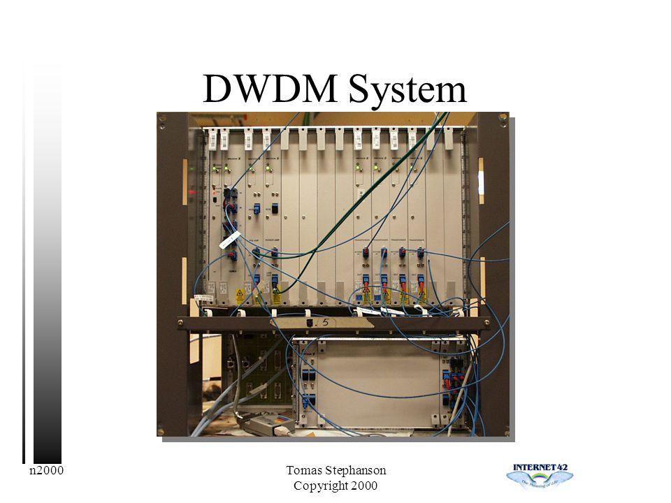 n2000Tomas Stephanson Copyright 2000 DWDM System