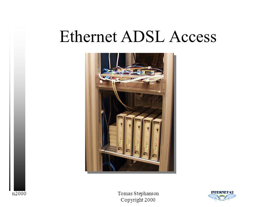 n2000Tomas Stephanson Copyright 2000 Ethernet ADSL Access