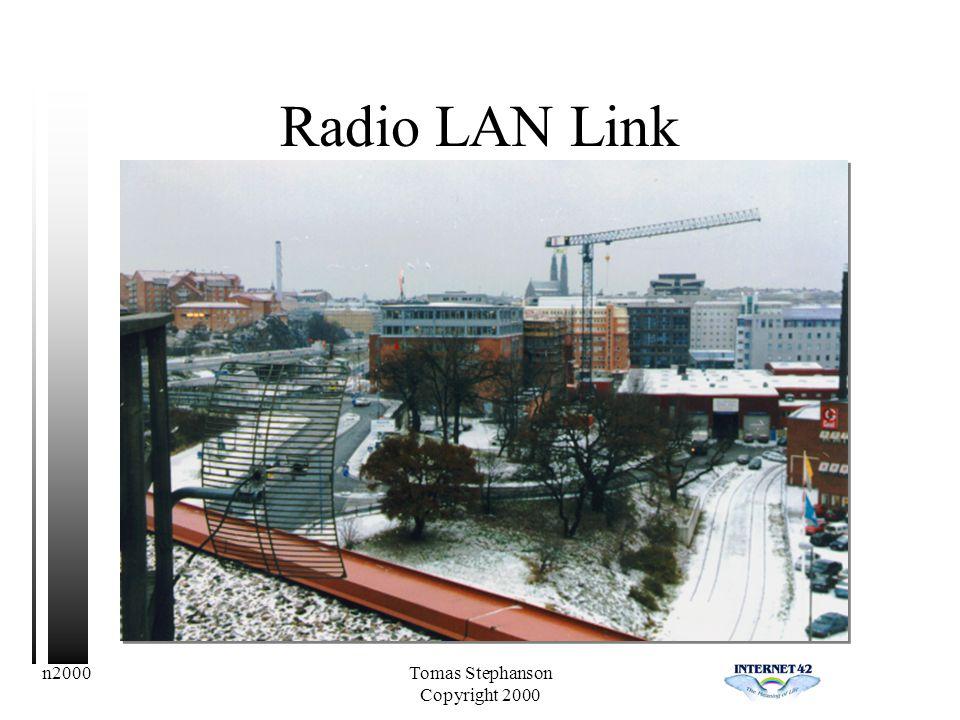 n2000Tomas Stephanson Copyright 2000 Radio LAN Link