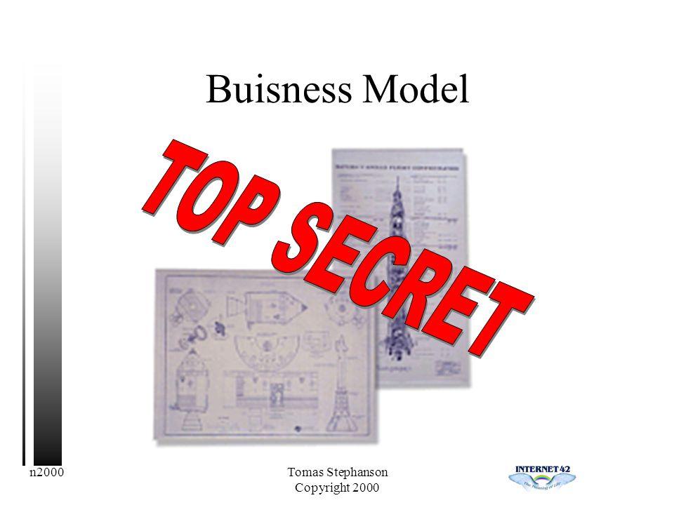 n2000Tomas Stephanson Copyright 2000 Buisness Model