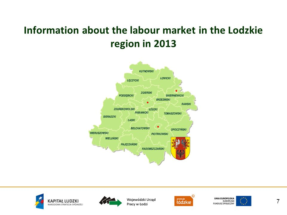 7 Information about the labour market in the Lodzkie region in 2013