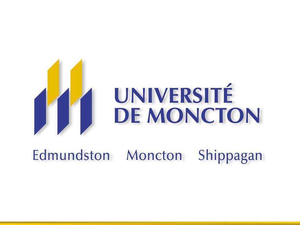 Largest francophone University outside Quebec Secure, safe, warm environment Located in the only official billingual city and province in Canada Université de Moncton