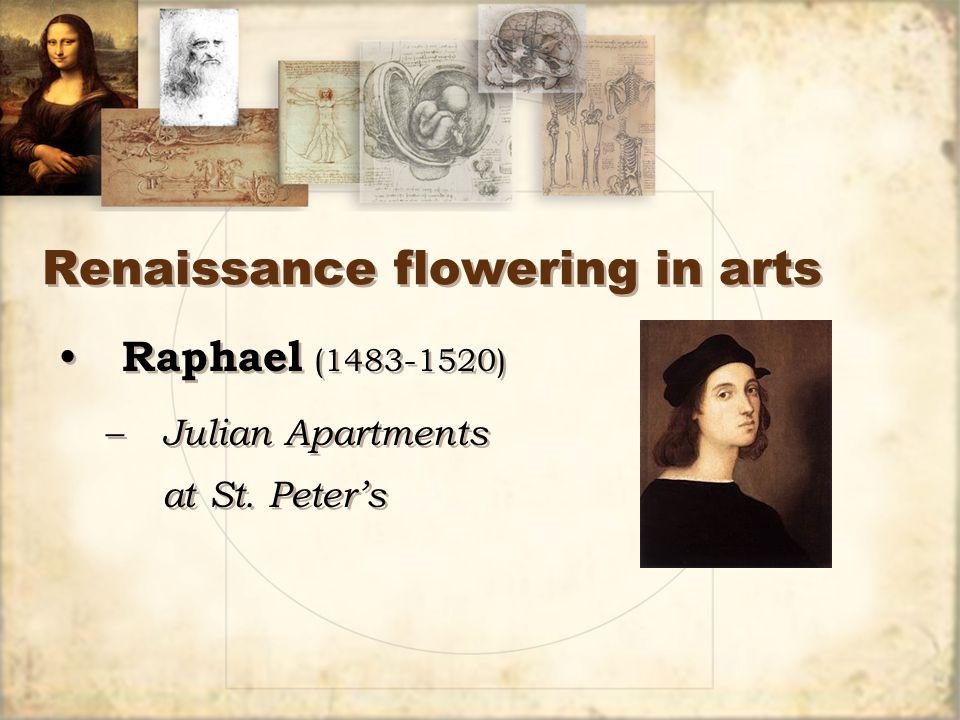 Renaissance flowering in arts Raphael (1483-1520) – Julian Apartments at St.