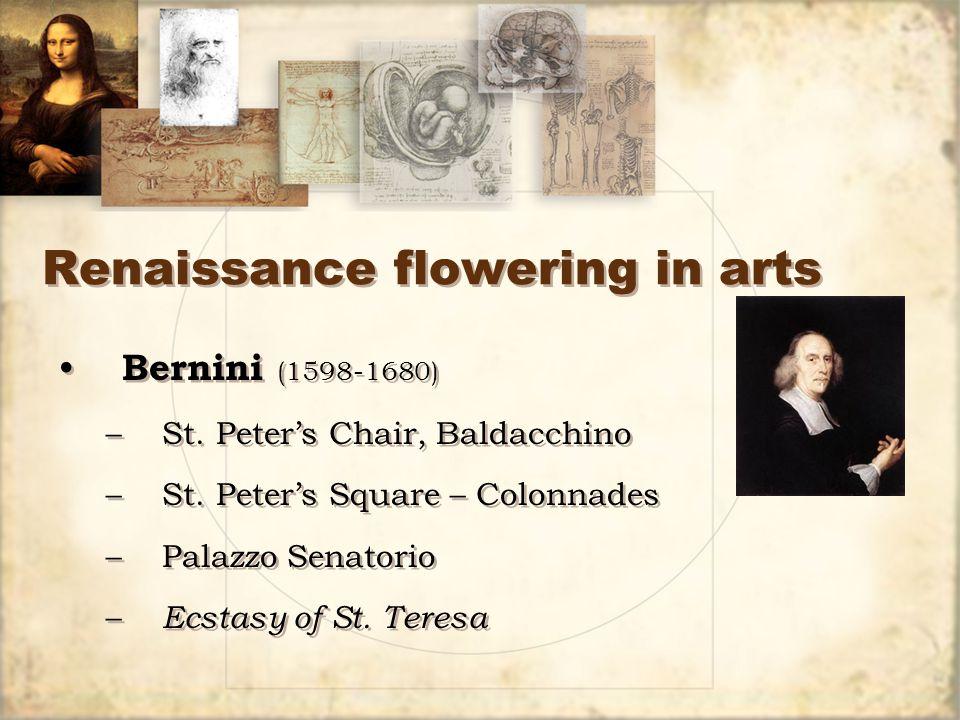 Renaissance flowering in arts Bernini (1598-1680) –St.
