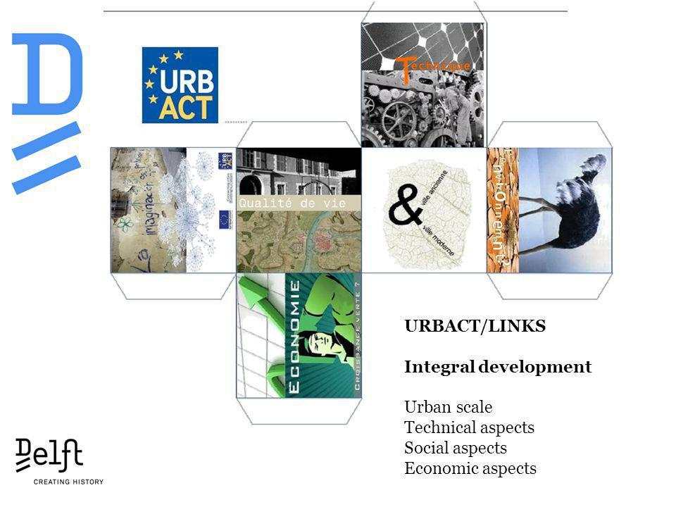 URBACT/LINKS Integral development Urban scale Technical aspects Social aspects Economic aspects
