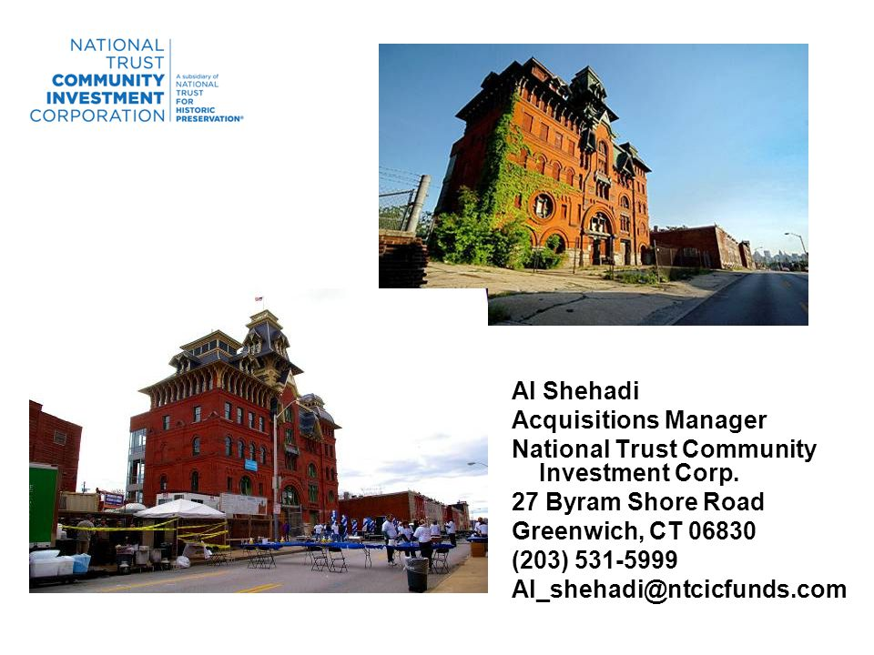 Al Shehadi Acquisitions Manager National Trust Community Investment Corp.