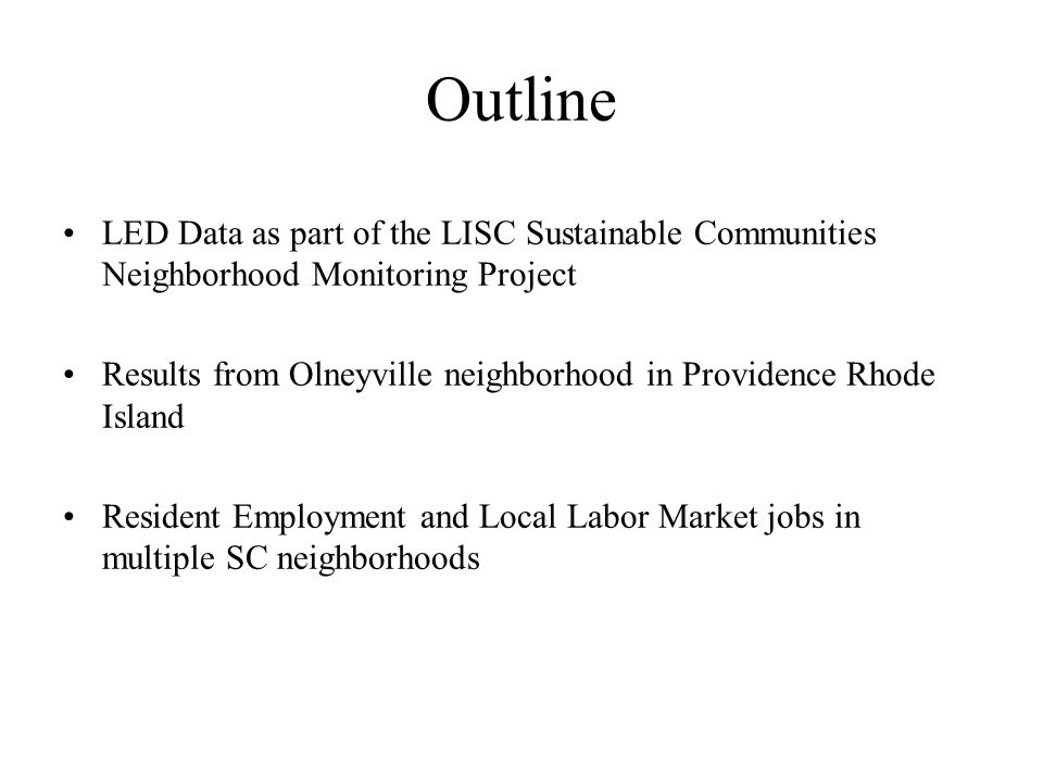 LISC has worked with community organizations to revitalize underserved neighborhoods since 1990 245,000 affordable homes & apartments 36 million sq feet of retail & business Facilities for child care, schools, the arts, & playing fields Invested $9 billion residential and commercial development