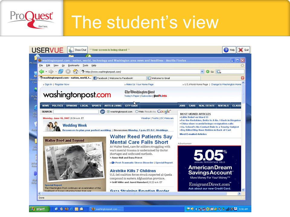 The students view