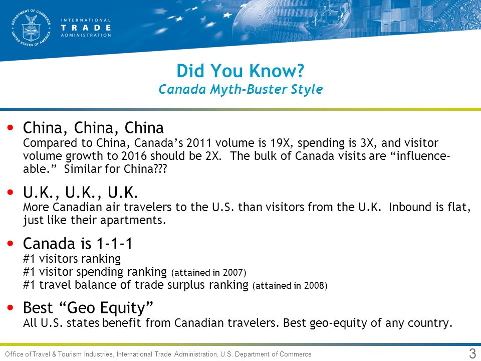 3 Office of Travel & Tourism Industries, International Trade Administration, U.S.