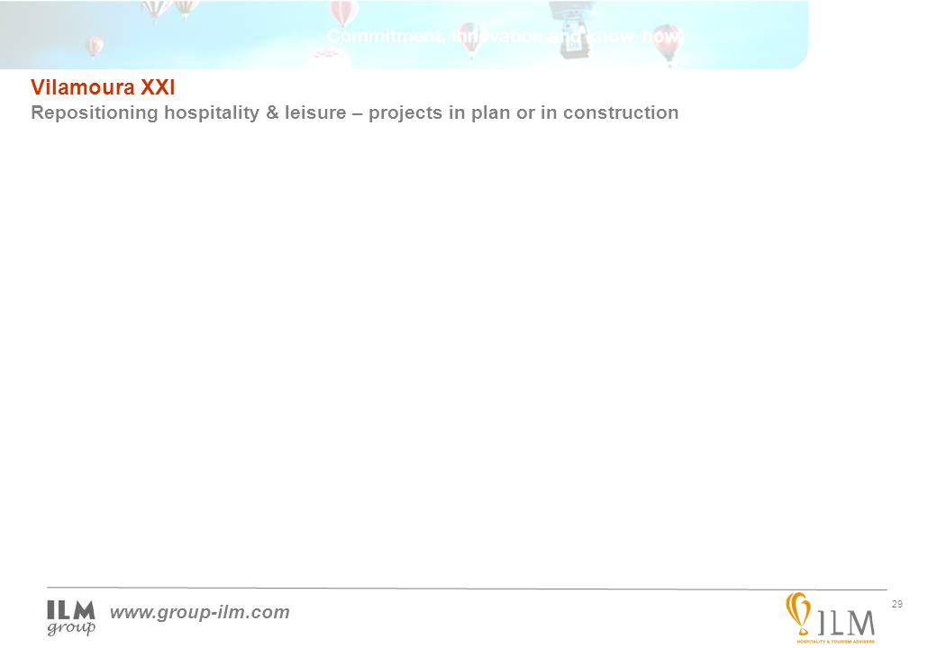 29 www.group-ilm.com Vilamoura XXI Repositioning hospitality & leisure – projects in plan or in construction