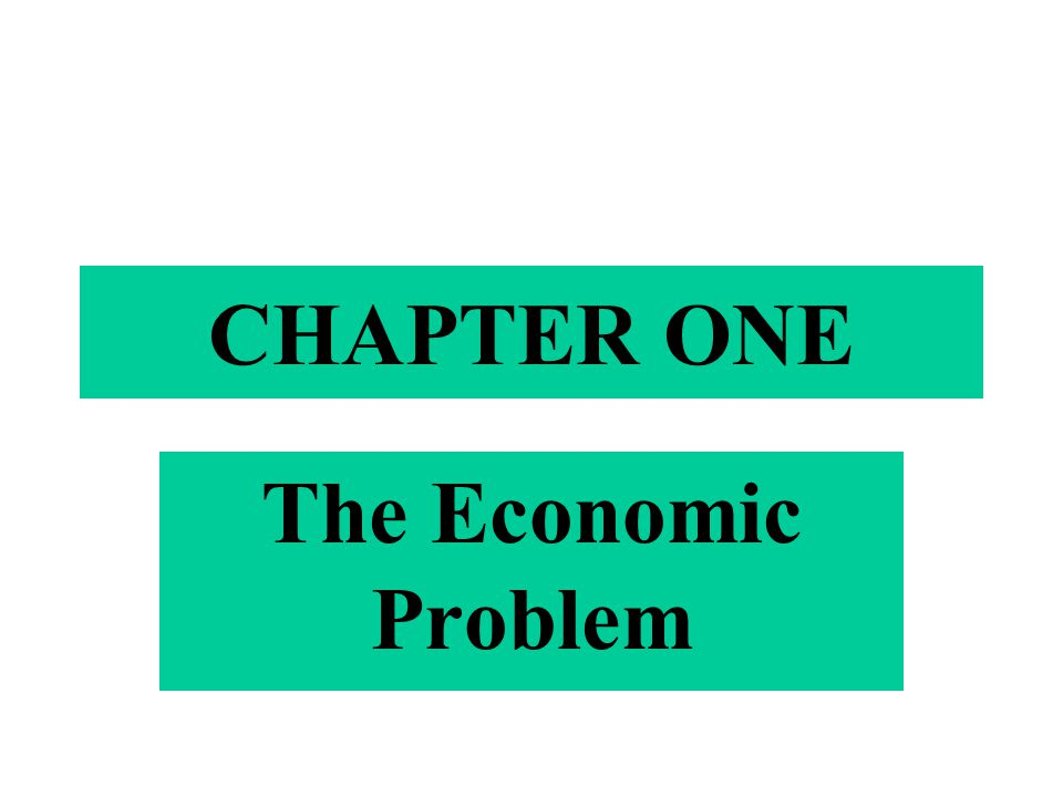 CHAPTER ONE The Economic Problem