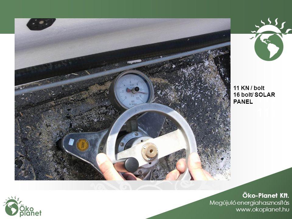 Öko-Planet Kft. Megújuló energiahasznosítás www.okoplanet.hu 111 11 KN / bolt 16 bolt/ SOLAR PANEL