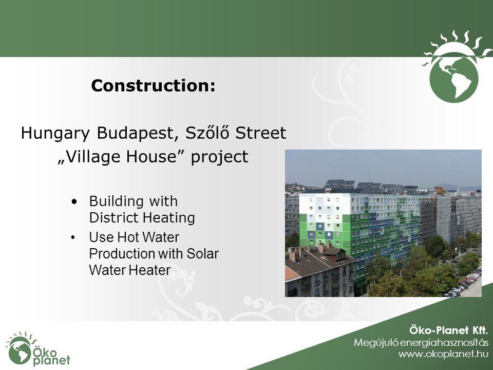 Öko-Planet Kft. Megújuló energiahasznosítás www.okoplanet.hu Construction: Hungary Budapest, Szőlő Street Village House project Building with District