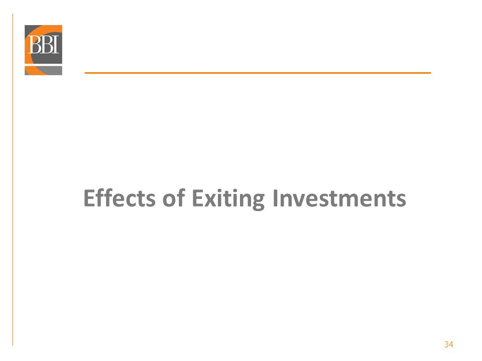 34 Effects of Exiting Investments