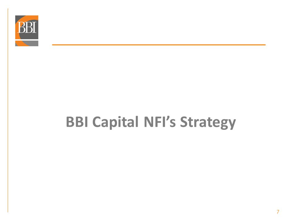 BBI Capital NFIs Portfolio development capital projects