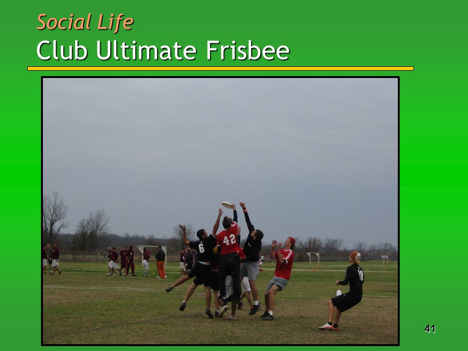 41 Social Life Club Ultimate Frisbee
