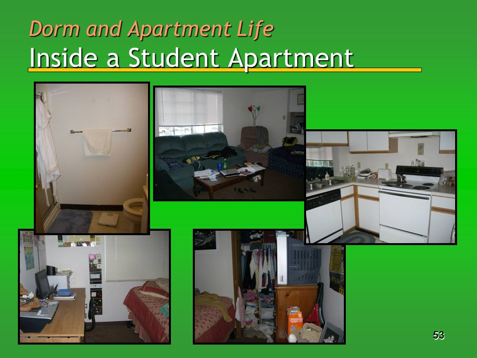 53 Dorm and Apartment Life Inside a Student Apartment