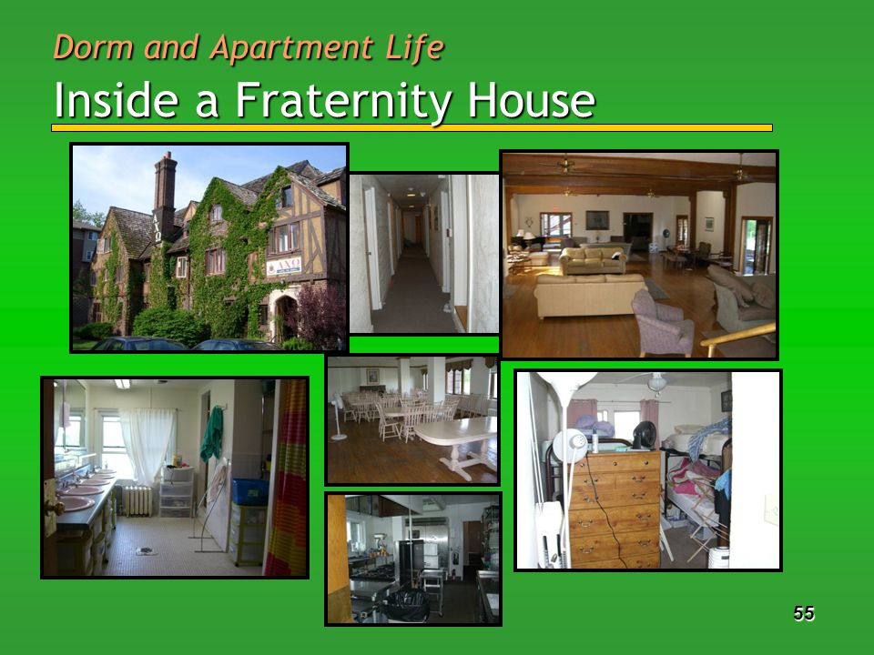 55 Dorm and Apartment Life Inside a Fraternity House