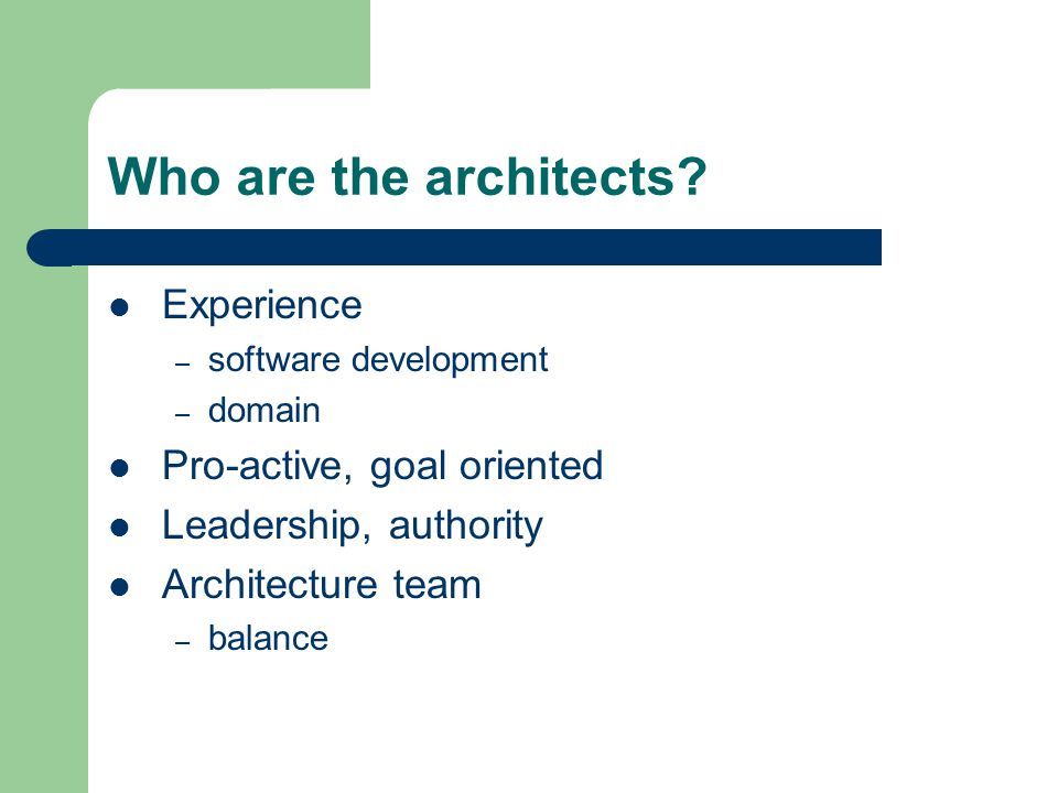 Who are the architects.