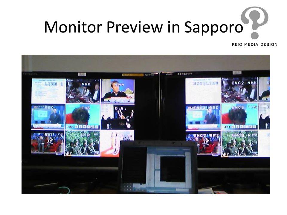 Monitor Preview in Sapporo