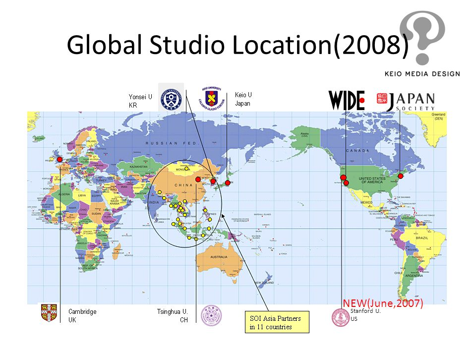 Global Studio Location(2008) Stanford U. US NEW(June,2007)