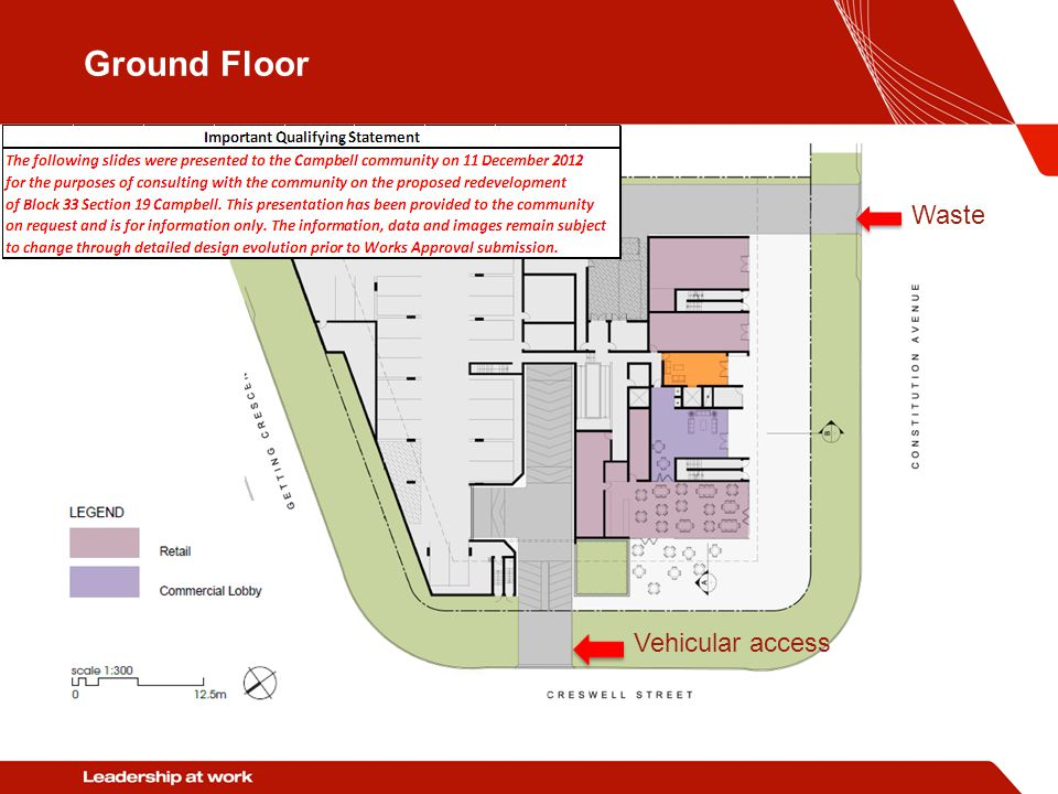 Ground Floor Waste Vehicular access