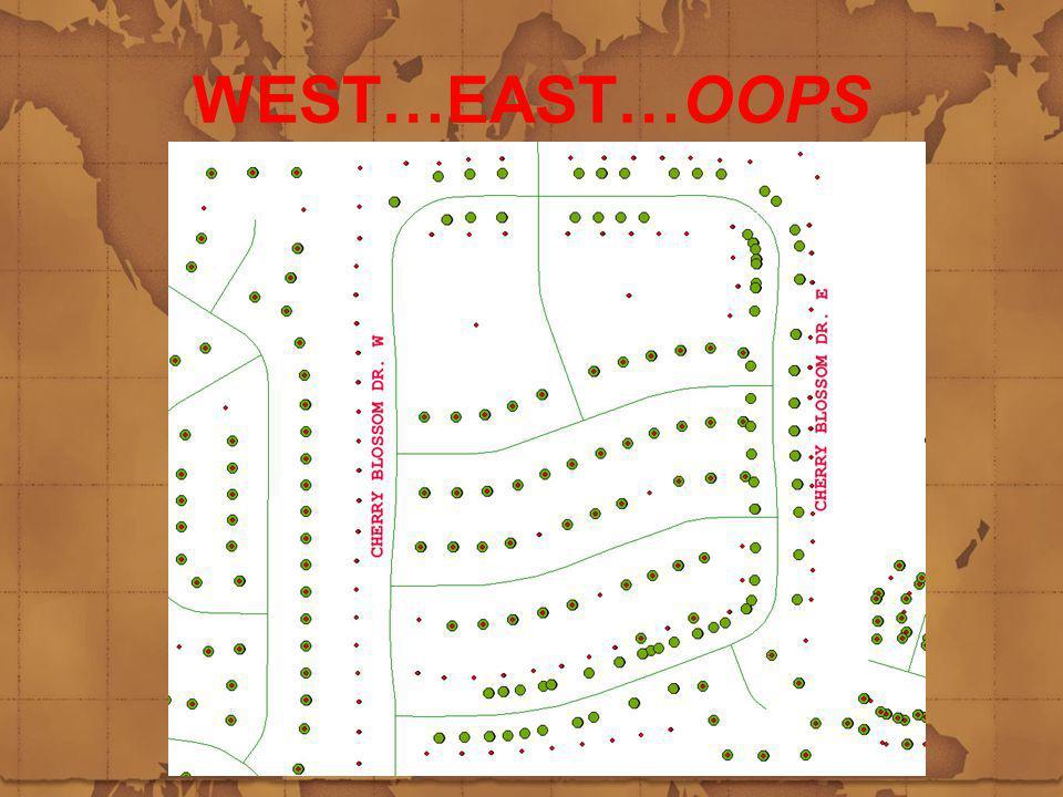 WEST…EAST…OOPS