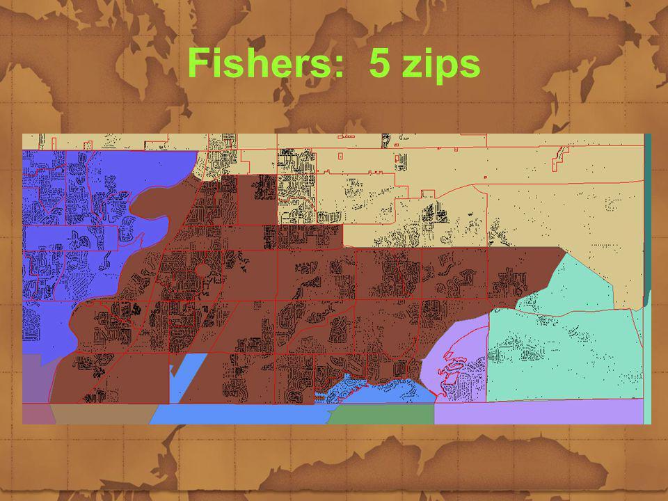 Fishers: 5 zips