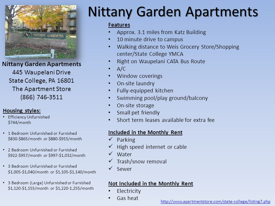 Park Forest Apartments Features Approx.2.4 miles from Katz Building Located just off N.