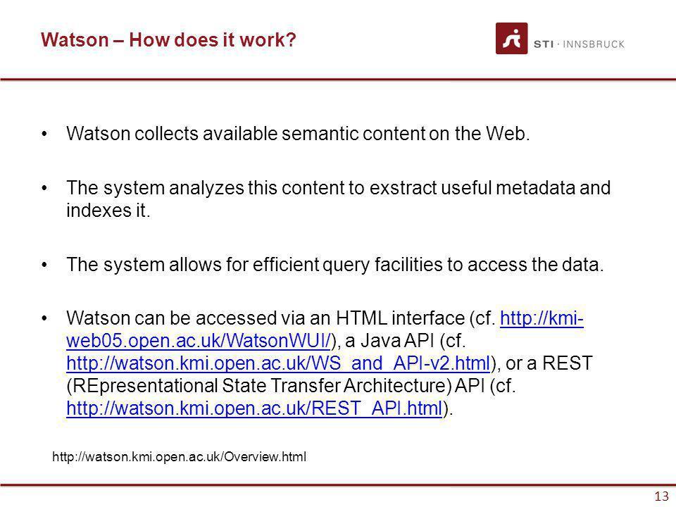 www.sti-innsbruck.at 13 Watson – How does it work.