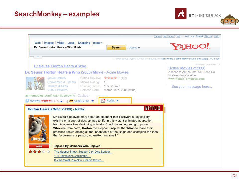 www.sti-innsbruck.at 28 Infobar SearchMonkey – examples
