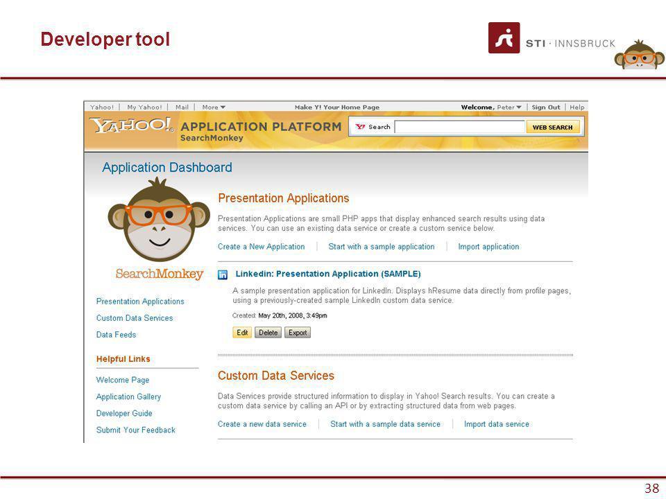 www.sti-innsbruck.at 38 Developer tool